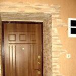 Установка откосов на входные двери