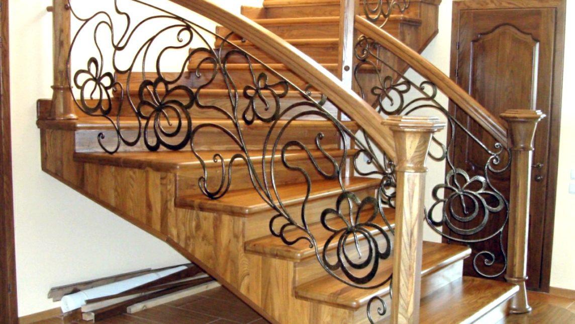 Изготовление кованых лестниц с применением художественной ковки